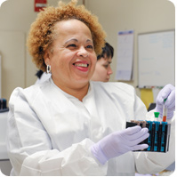 Nurse in lab coat image